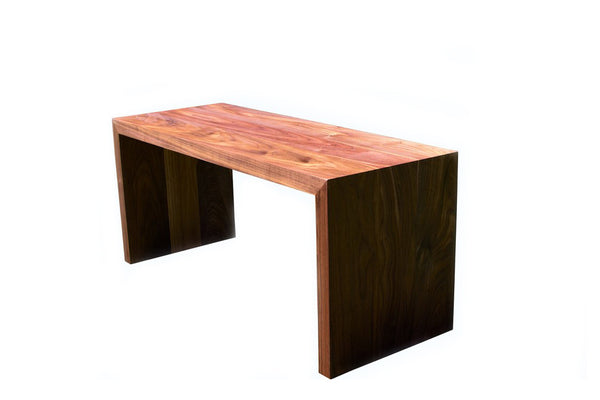 Stowe Walnut Waterfall Coffee Table or Bench