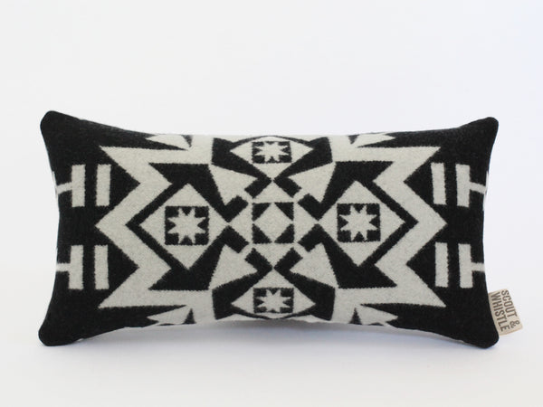 Snowflake Black Pillow