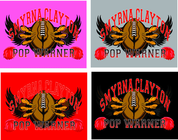 Smyrna Clayton Pop Warner - HOODIES - DbyD Printing LLC