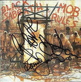 BLACK SABBATH - Mob Rules Multi Signed CD Cover - Dio