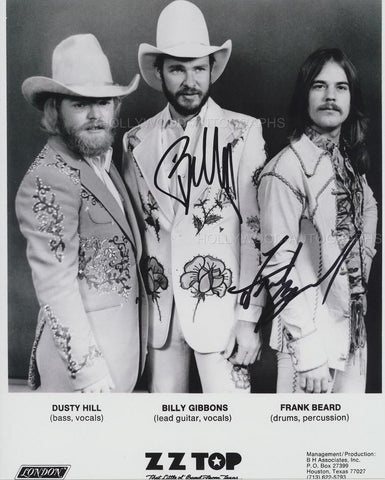 BILLY GIBBONS & FRANK BEARD - ZZ Top - Dual Signed