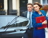 RICHARD MADDEN and KEELEY HAWES - Bodyguard Double Signed Photo - (2)