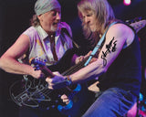 ROGER GLOVER  and STEVE MORSE - Deep Purple Dual SIgned Photo