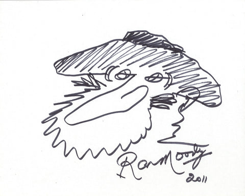 RON MOODY - Hand Drawn Sketch of Fagin From Oliver