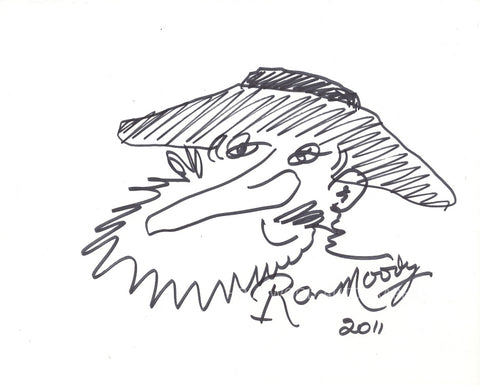 RON MOODY - Hand Drawn Sketch of Fagin From Oliver - (3)