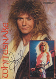 DAVID COVERDALE - Whitesnake Dual Signed A4 Magazine Page