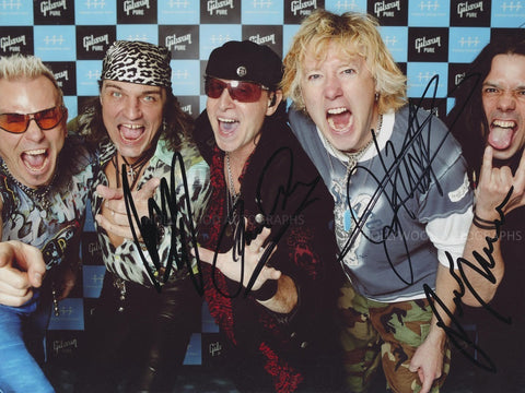 SCORPIONS - Multi Signed Photo