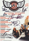 REO SPEEDWAGON - Multi-Signed A5 Flyer - (2)