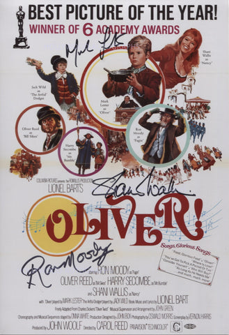 "OLIVER Multi Signed 8""x11.5"" Mini Poster - Signed by 3 - (2)"