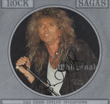 "WHITESNAKE - David Coverdale - Signed 12"" Rock Sagas Picture Disc"