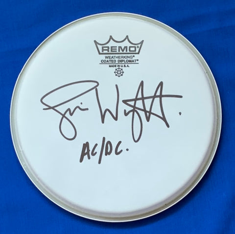 SIMON WRIGHT - AC/DC Signed Drum Head