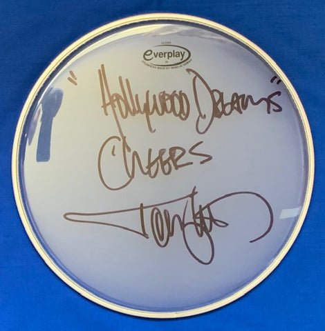 TOMMY LEE - Motley Crue Signed Drum Head