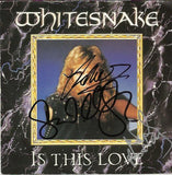 "WHITESNAKE: IS THIS LOVE?  7"" Multi Signed Vinyl"