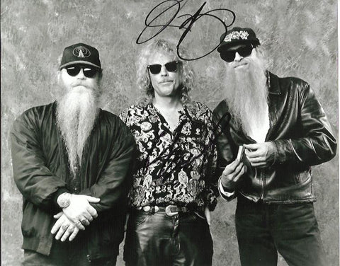 BILLY GIBBONS & FRANK BEARD - ZZ Top - Dual Signed - (3)