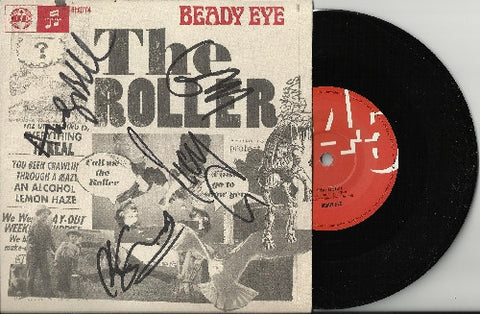 "BEADY EYE - The Roller 7"" Vinyl - Multi-Signed"