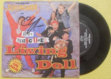 "CLIFF RICHARDS - Living Doll 7"" Vinyl - Comic Relief With The Young Ones"