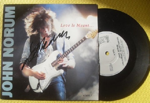 "JOHN NORUM - LOVE IS MEANT 7"" Signed VInyl - Europe"