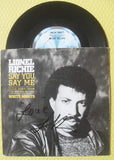 "LIONEL RICHIE - Say You Say Me 7"" Vinyl"