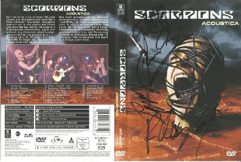 SCORPIONS: ACOUSTICA Multi SIgned DVD Sleeve