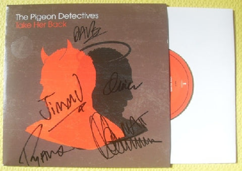 "THE PIGEON DETECTIVES - Take Her Back 7"" Vinyl - Multi-Signed"