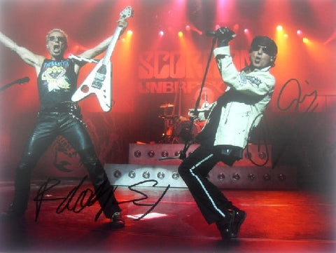 "SCORPIONS - Dual Signed 12""x16"" - (1)"