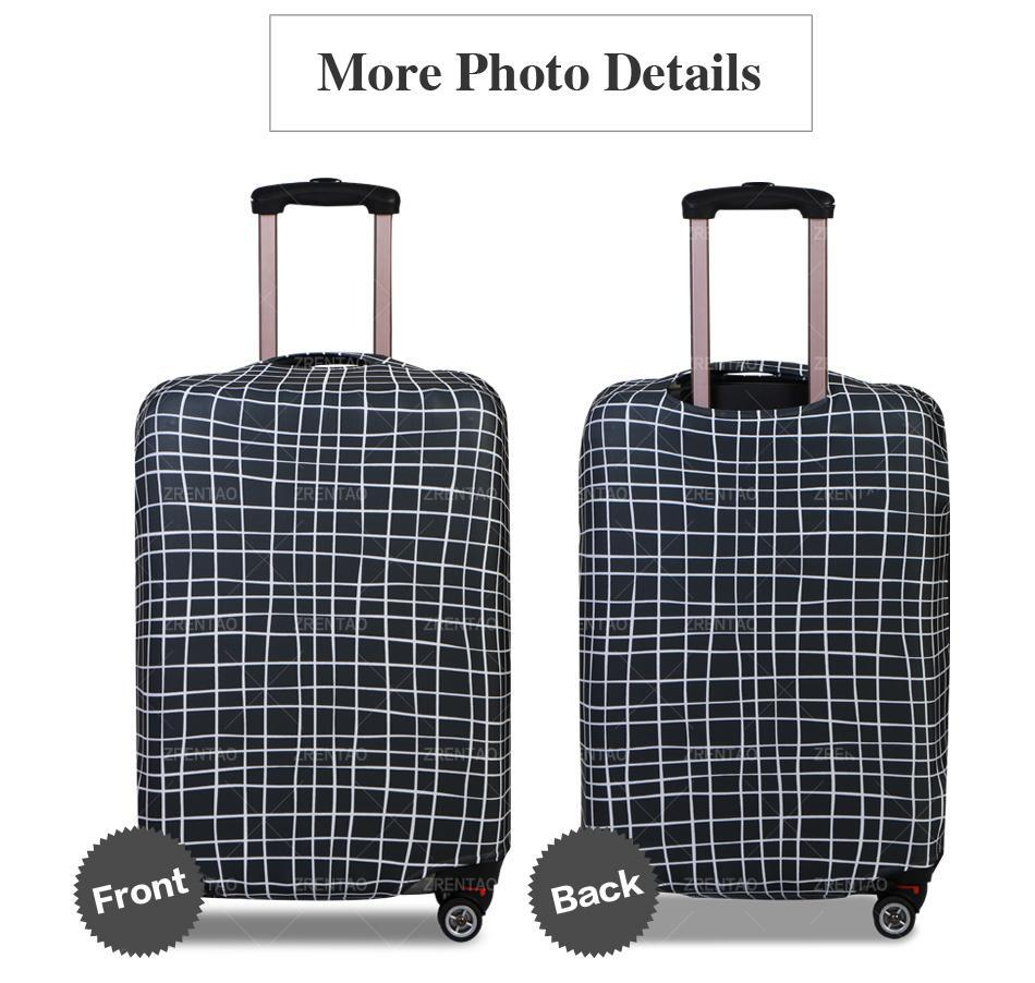 Musical Notes Galaxies Luggage Cover