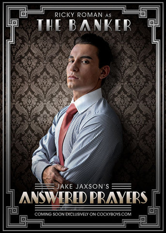 Ricky Roman as the Banker in Answered Prayers by CockyBoys Adult Porn Studios