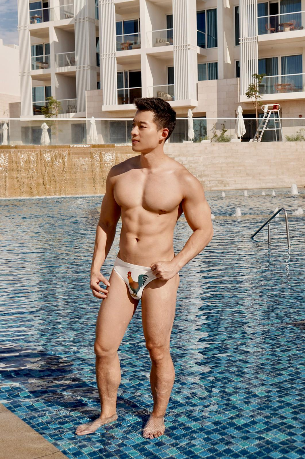 Conway Tam Sexy Asian Male Model for Gay Brand JJ Malibu