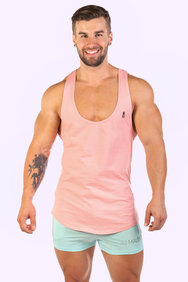 "JJ ""In Too Deep"" Tank Top - Peach - J.J. Malibu"