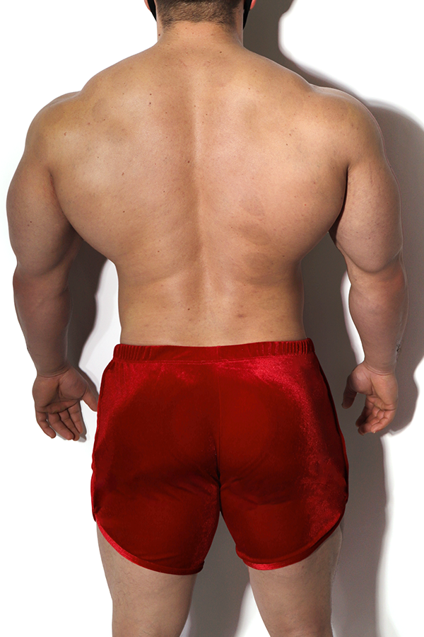 Bad Boy Velvet Short Shorts - Red Summer