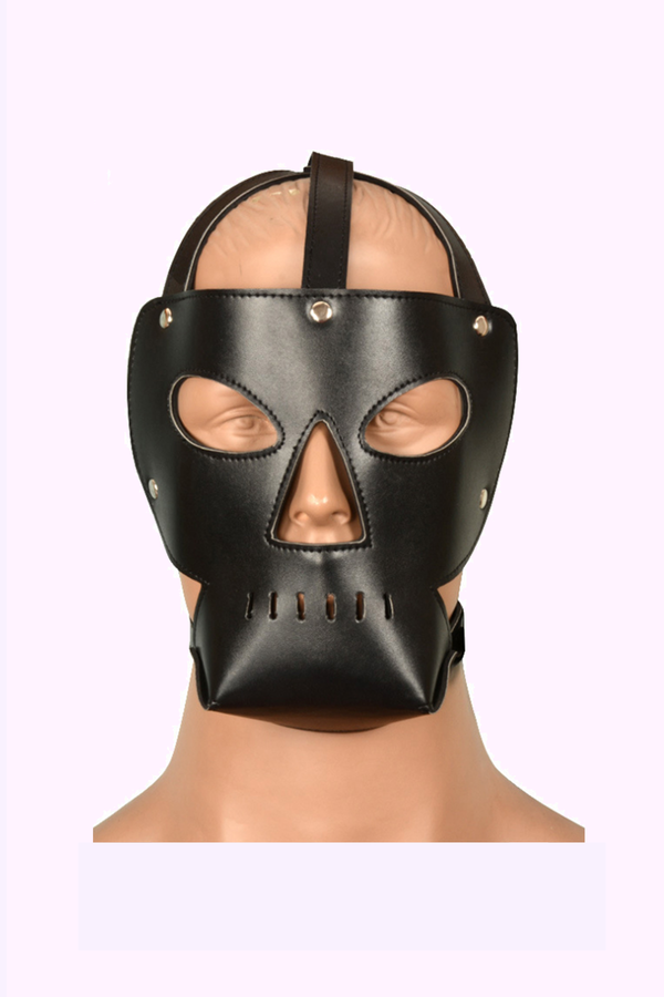 Kinky Leather Face Mask for Kinky Dom and Sub Play.
