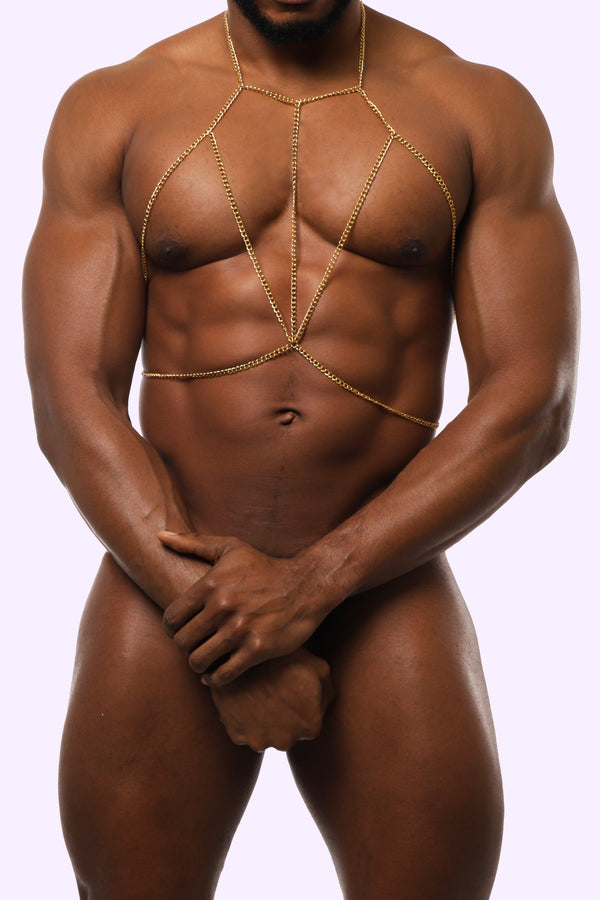 Men's Body Chain. Body Chain for Men. Gold Body Chain. Gold Body Chain for Men.