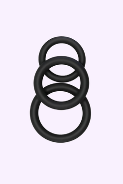 Men's Cock Rings for Sexual Pleasure. 3 Different Sizes Penis Rings for Ultimate Value. Fast and Discreet Shipping Available.