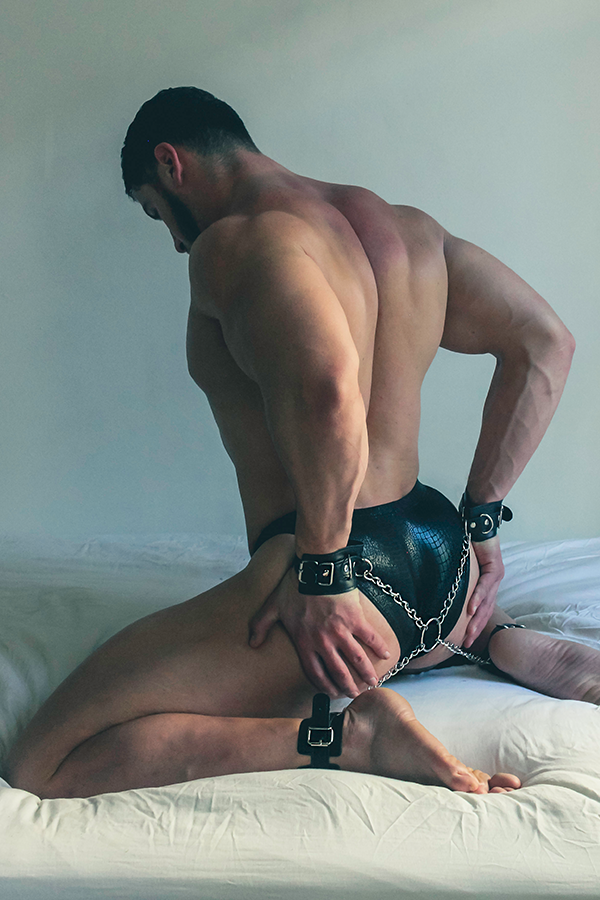 Crave Leather Wrist and Ankle Hogtie Restraints