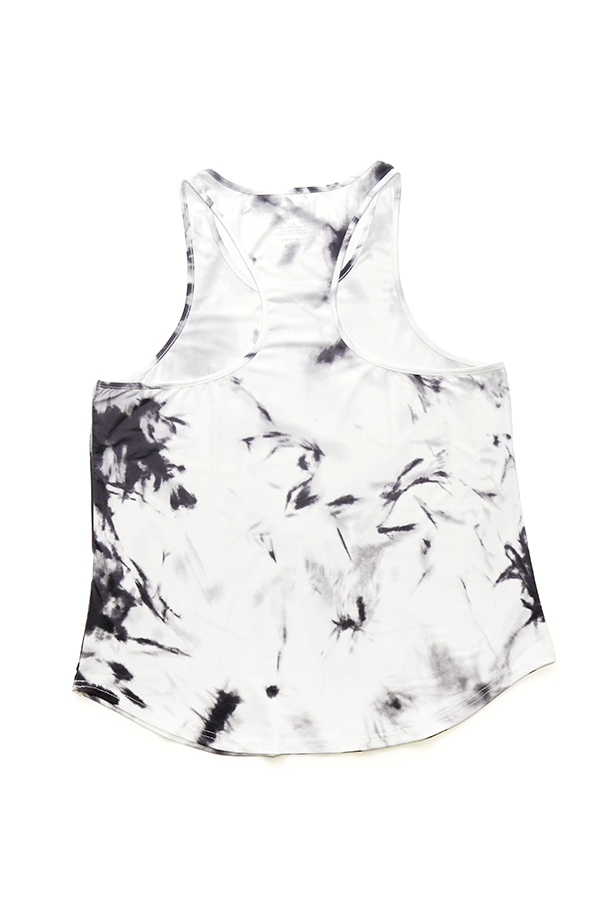 Face Crack Tank Top - White
