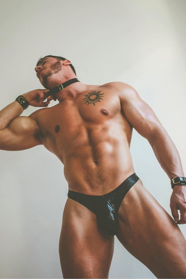 Devlish Leather Briefs - Black