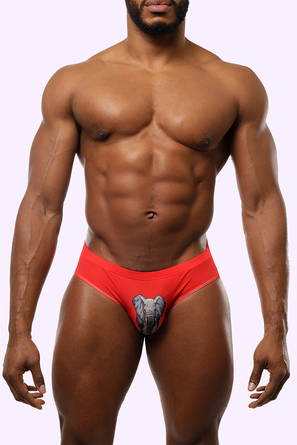 elephant classic briefs. elephant briefs. elephant underwear. red underwear. gay brand. gay clothing.