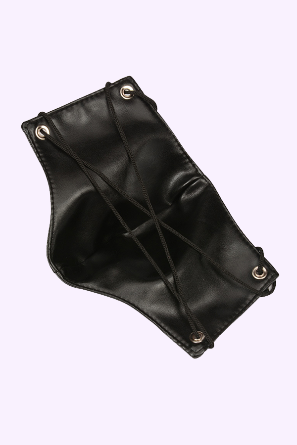 Edgy Faux Leather Face Mask for BDSM.