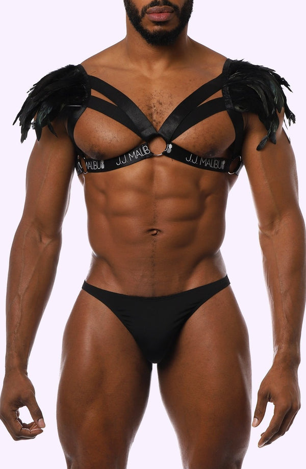 Chest Harness with Feathers. Feathers Harness.