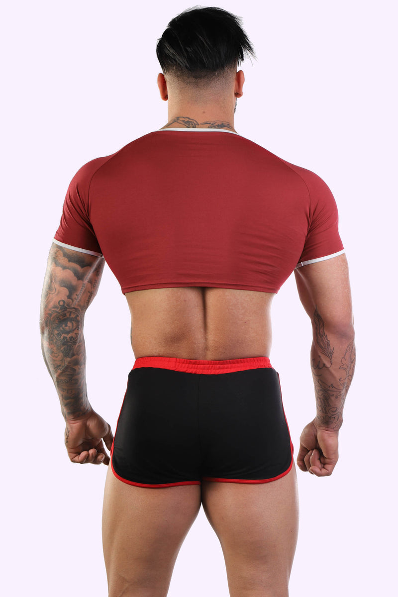 Varsity Crop Top - Filthy Red - J.J. Malibu