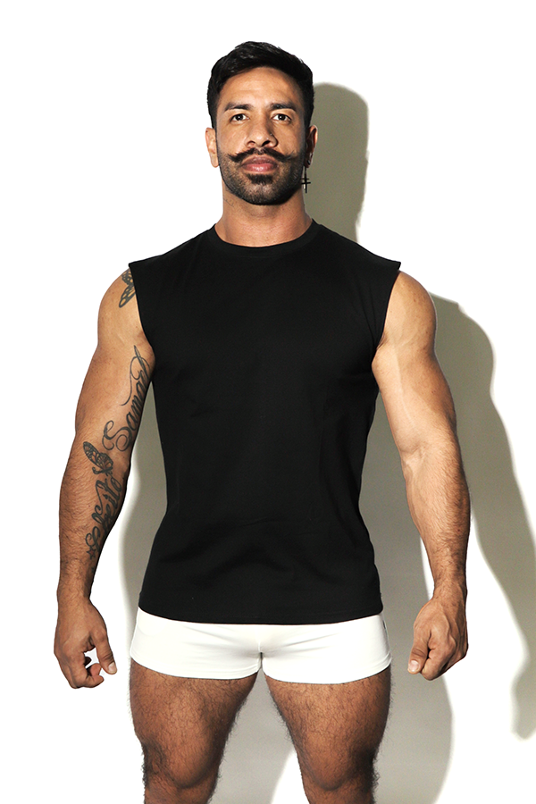Word on the Street Muscle Tank Top - Black