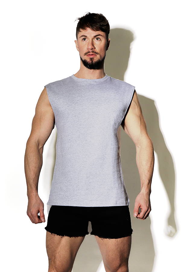 Word on the Street Muscle Tank Top - Gray