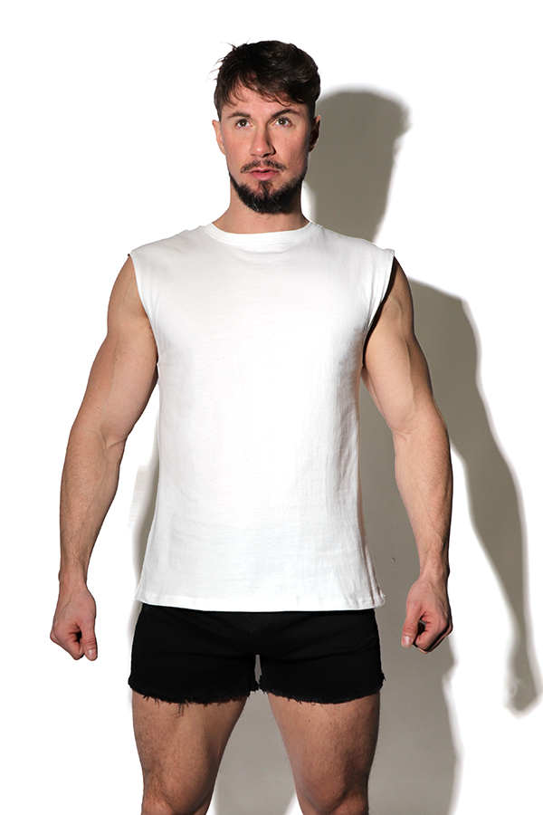 Word on the Street Muscle Tank Top - White