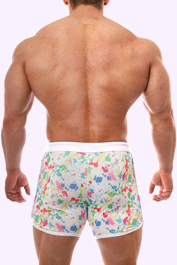 Paint Splash Short Shorts