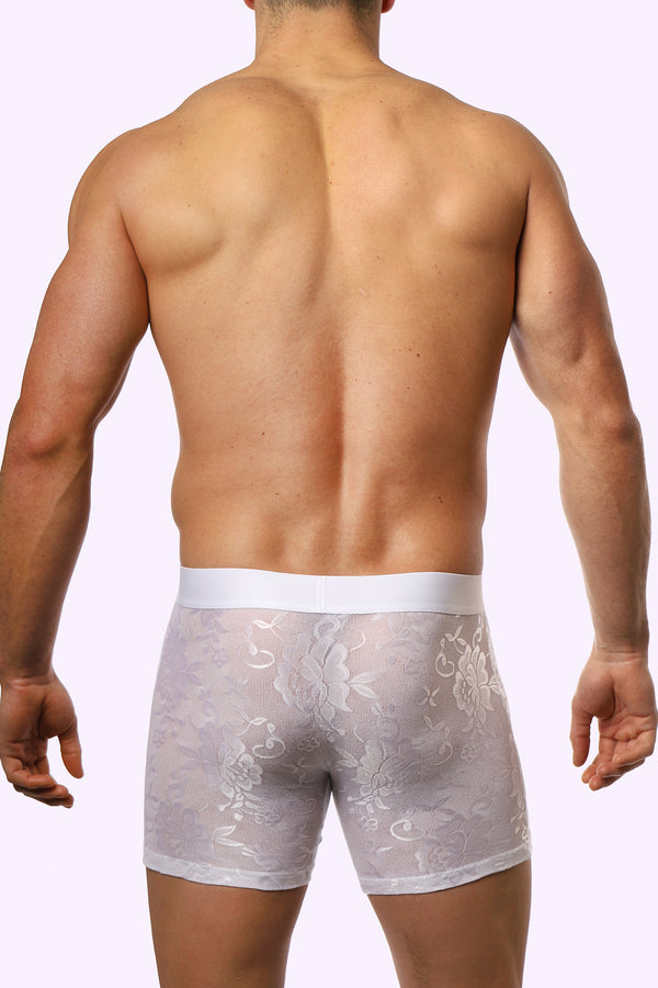 JJ Floral Briefs - White Rose