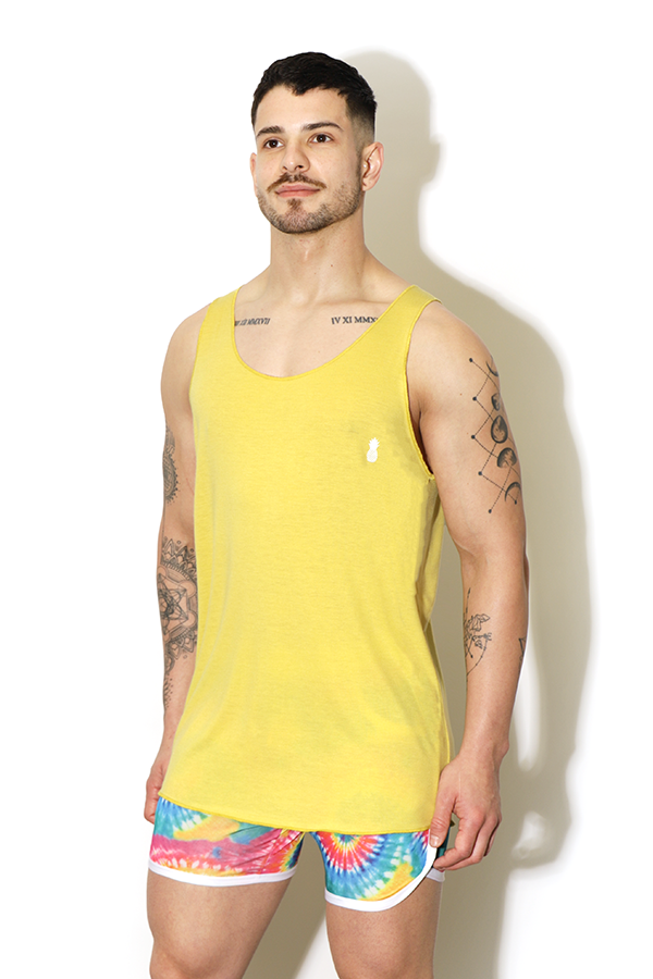 Rebel Tank Top - Light Yellow
