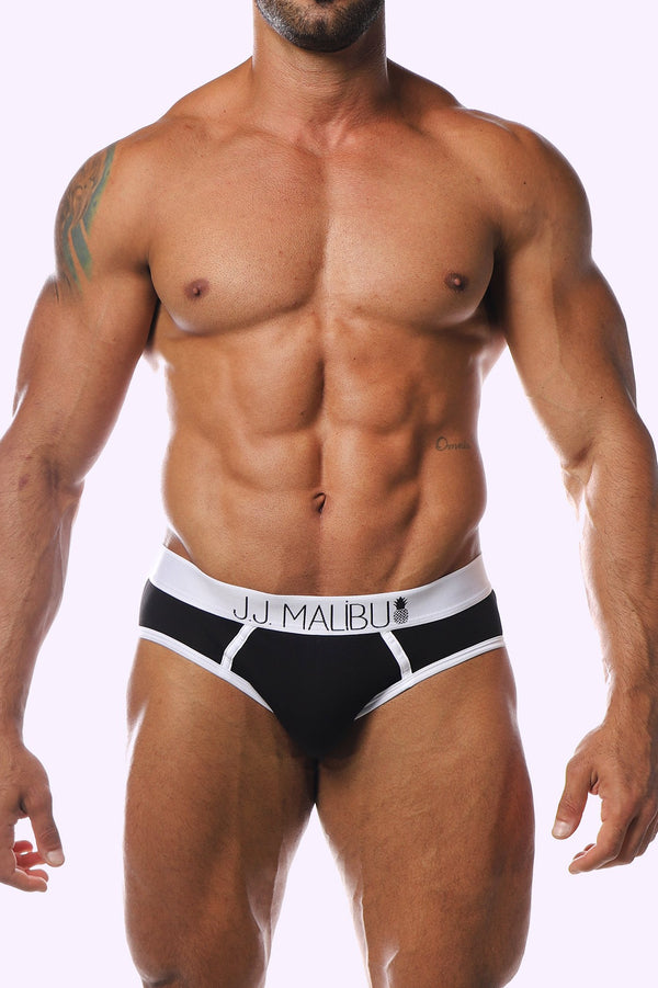 JJ Hip Briefs - Midnight - J.J. Malibu