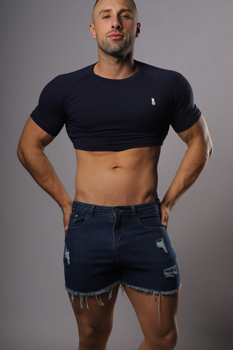 Signature JJ Crop Top - Navy