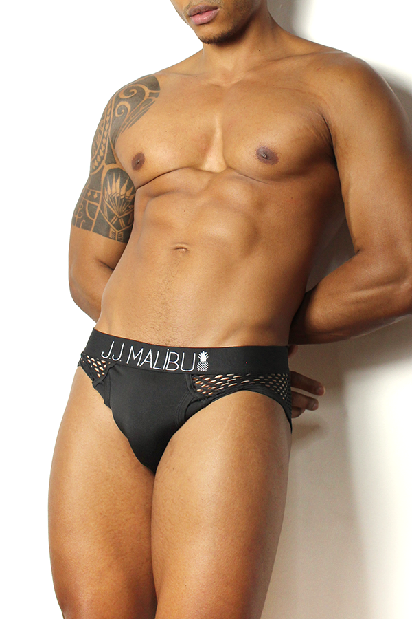 Ask Your Husband Mesh Briefs - Black