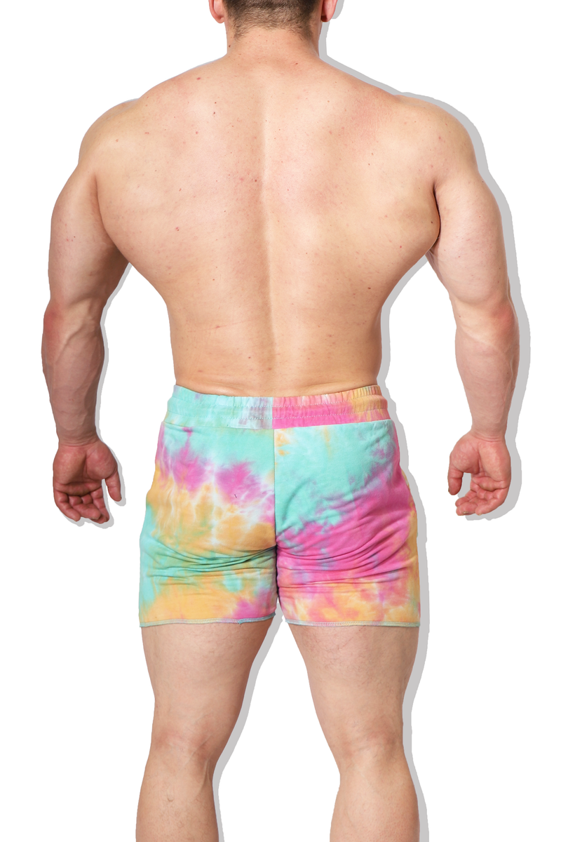 Insatiable Short Shorts - Multicolor Tie Dye